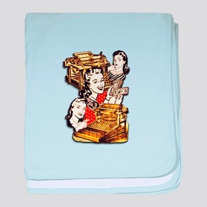 Quirky Office Gals baby blanket