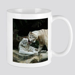 Kiss love and joy White Bengal Tigers Mugs