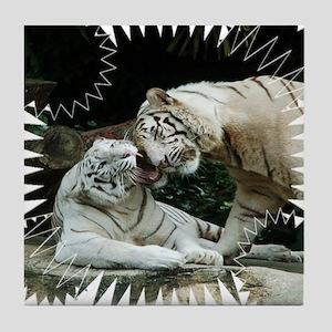 Kiss love and joy White Bengal Tigers 3 Tile Coast