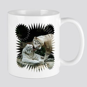 Kiss love and joy White Bengal Tigers 3 Mugs