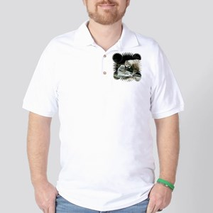 Kiss love and joy White Bengal Tigers 3 Golf Shirt
