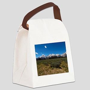 Grand Teton Scenic View Canvas Lunch Bag