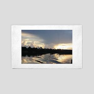 Sunset on the Amazon Water 3'x5' Area Rug