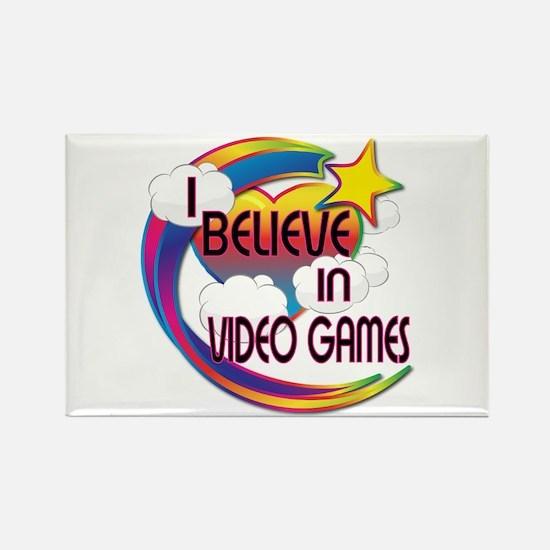 I Believe In Video Games Cute Believer Design Rect