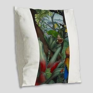 Cloud Forest Painting Burlap Throw Pillow
