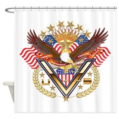 American Military Family Shower Curtain