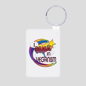 I Believe In Veganism Cute Believer Design Aluminu