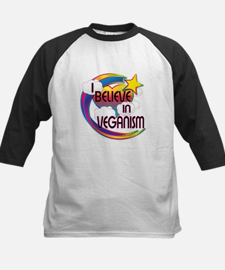 I Believe In Veganism Cute Believer Design Tee