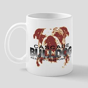 Bulldog Head Mug