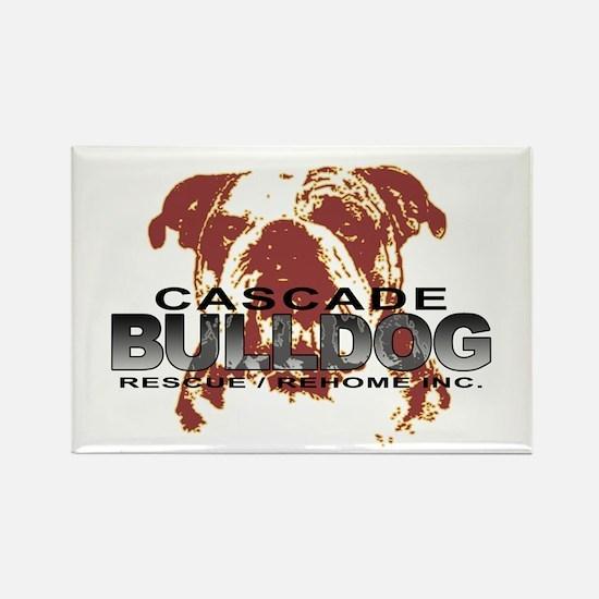Bulldog Head Rectangle Magnet (10 pack)