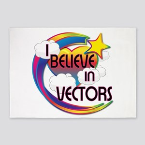 I Believe In Vectors Cute Believer Design 5'x7'Are