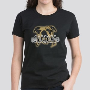 Bulldog Head Women's Black T-Shirt