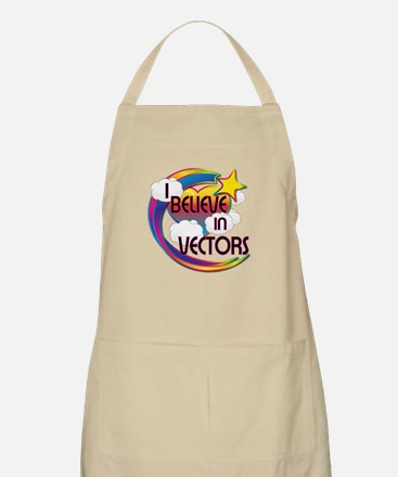 I Believe In Vectors Cute Believer Design Apron