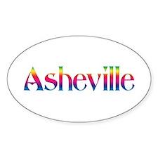 Asheville Oval Sticker
