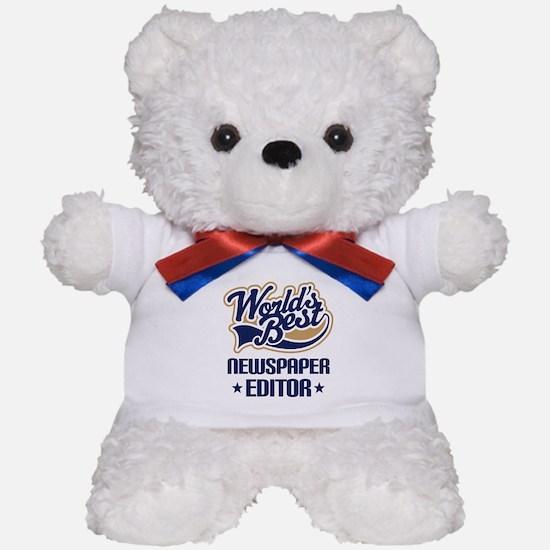 Newspaper Editor (Worlds Best) Teddy Bear