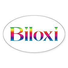 Biloxi Oval Sticker