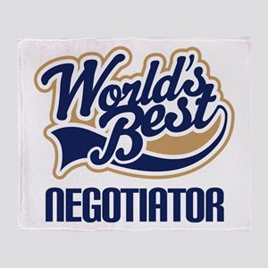 Negotiator (Worlds Best) Throw Blanket