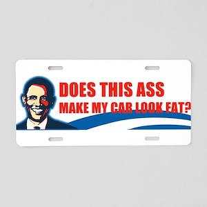 Obama = Ass Aluminum License Plate