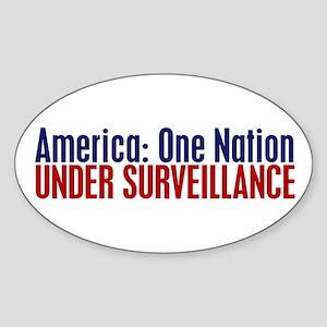 America: One Nation Under Surveillance Sticker
