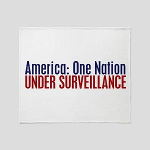 America: One Nation Under Surveillance Throw Blank