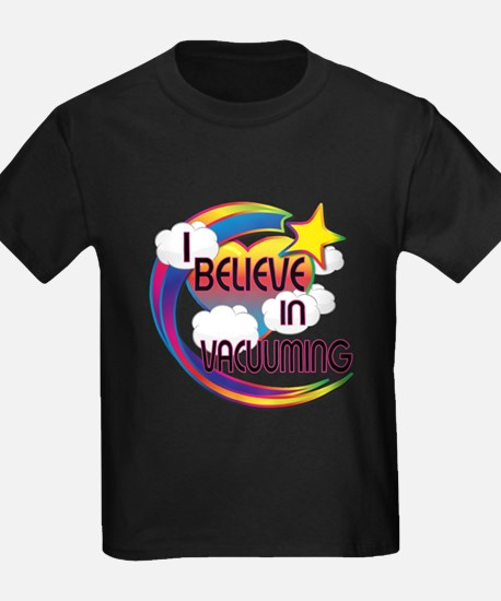 I Believe In Vacuuming Cute Believer Design T