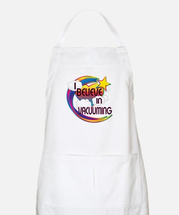 I Believe In Vacuuming Cute Believer Design Apron