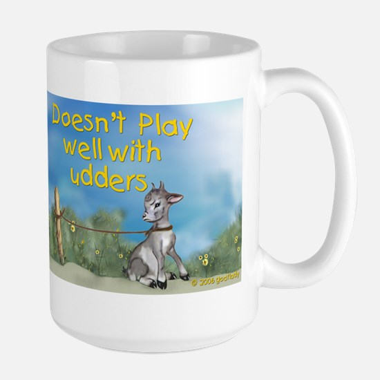 Goat Plays Well-Doesn't Play Well Combo Large Mug