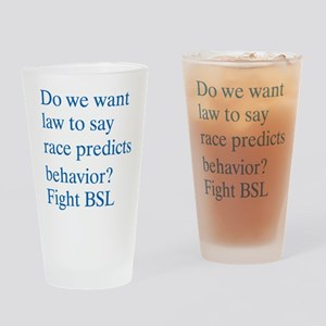 Regulate by Race Drinking Glass