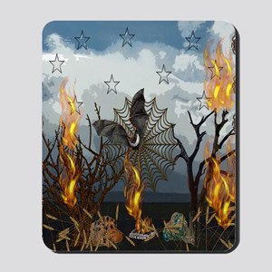 Fantasy Of Bat and Fire Mousepad