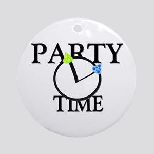 Party Time Ornament (Round)