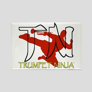 Trumpet Ninja Rectangle Magnet