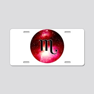 Scorpio Aluminum License Plate