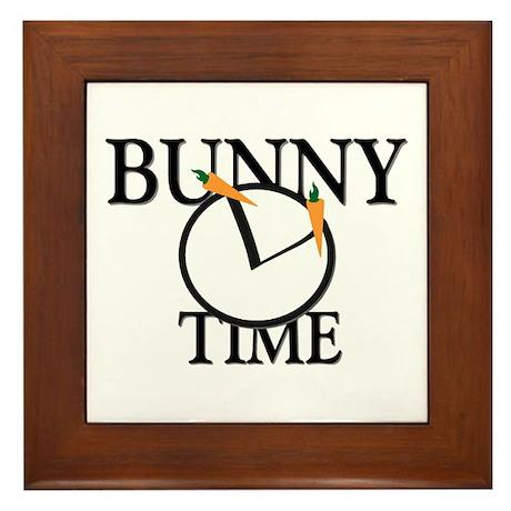 Bunny Time Framed Tile