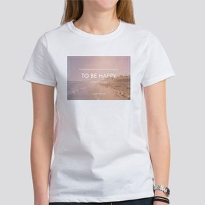 Audrey Hepburn - Happy Quote T-Shirt
