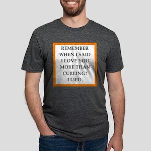 curling Mens Tri-blend T-Shirt
