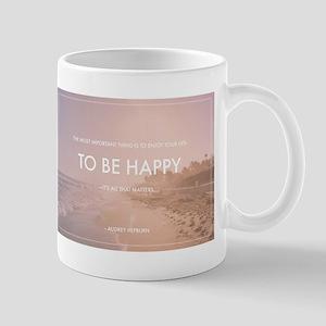 Audrey Hepburn - Happy Quote Mugs