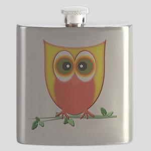 Jazzy Owl Art Flask