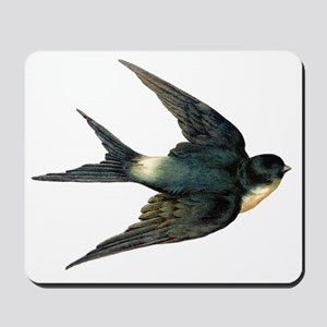 Vintage Swallow Bird Art Mousepad