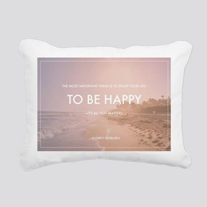 Audrey Hepburn - Happy Q Rectangular Canvas Pillow