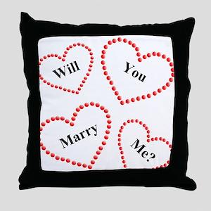 Love & Hearts  Throw Pillow