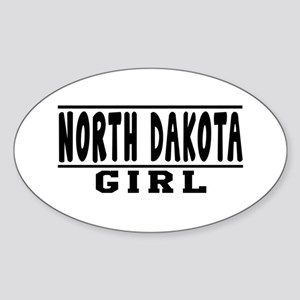 North Dakota Girl Designs Sticker (Oval)