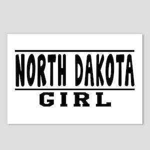 North Dakota Girl Designs Postcards (Package of 8)