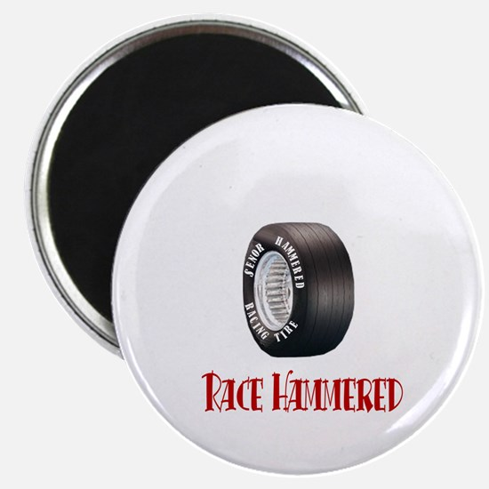 Hammered Racing Tires Magnet
