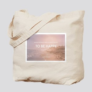 Audrey Hepburn - Happy Quote Tote Bag