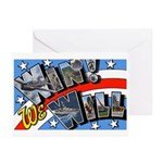 We Will Win Victory Greeting Cards (Pk of 10)