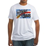 We Will Win Victory (Front) Fitted T-Shirt
