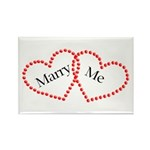 Double Heart Rectangle Magnet (10 pack)