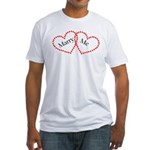 Double Heart Fitted T-Shirt