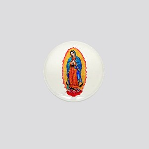 14x10_virgin_of_guadalupe Mini Button