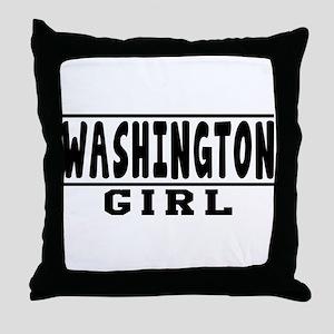 Washington Girl Designs Throw Pillow
